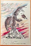 """CPA Guerre De 14  Edit: ? Illus.: Signé RENO. """" 1914  L'Aigle Qui Représente L'empire Du Crime...sur Les Têtes De Mort."""" - Oorlog 1914-18"""