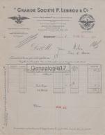 12 329 ROQUEFORT SUR SOULZON AVEYRON 1911 Fromage Fromagerie P. LEBROU Usine Frigorifique LAPANOUSE DE CERNON - Artigianato