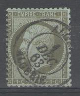 "N°19 Oblitéré ""ALGERIE"" - 1862 Napoléon III"
