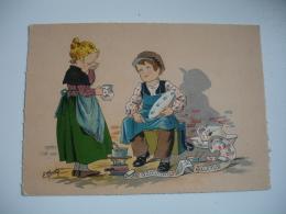 Barre Dayez Depot Legal 1946  Illustrateur  Naudy Les Petits Metiers  Raççomodeur De Faiençe - Fantaisies