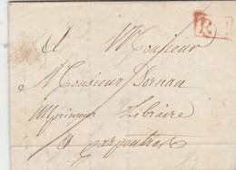 Lettre  écrite De St Léger 29/12/1839 Cachet PP Port Payé Pour Carpentras Vaucluse - Marcophilie (Lettres)