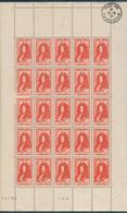 France -1944 -   Feuille De  25  Valeurs - Louis XIV 4f. + 6f. Vermillon - Y&T N°617 ** Neuf Luxe . - Feuilles Complètes