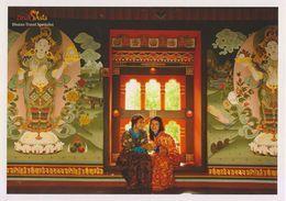 Postcard Bhutan Costume Ethnic Art - Bhutan