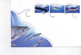 Finlande 2001-Poissons-FDC - Fische