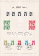 = Sabine De Gandon Document Philatélique 1er Jour N°1971 1973 1974 1976 1978 Paris Le 3 Juin 1978 - Documents Of Postal Services