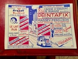 BUVARD  CAISSE  D' ÉPARGNE  De  ROANNE   PRINTAFIX - Banque & Assurance