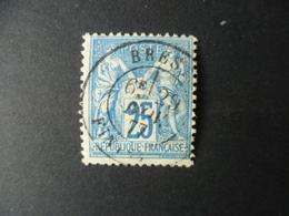 SAGE  N° 79  OBLITERATION  BREST  1877 - 1876-1898 Sage (Type II)