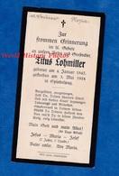 Faire Part De Décés De 1924 - SPINDELWAG - Titus LOHMILLER - Landkreis Biberach In Oberschwaben Memmingen Genealogie - Obituary Notices