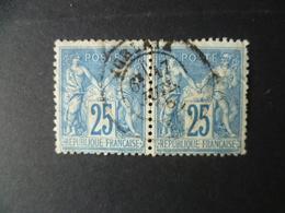 SAGE   N° 79  EN PAIRE  OBLITERATION  MORLAIX - 1876-1898 Sage (Type II)