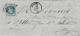 1870- Lettre De MARANS ( Ch. Mar. ) Cad T16 Affr. N°29 Oblit. GC 2194 - 1849-1876: Période Classique