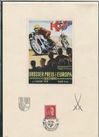 Gedenkblatt -Sachsenring Mit Seltener Aufgeklebter Karte (bg2384   ) Siehe Scan - Allemagne