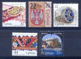 SRB 2009-273-7 Definitive, SERBIA, 1 X 5v, MNH - Serbie
