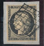 N°3 SUR FRAGMENT GRILLE 1849 - 1849-1850 Ceres