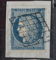 N°4 SUR FRAGMENT GRILLE 1849 - 1849-1850 Cérès