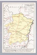 AK SUPRA Margarine  Limbourg Limburg Landkarte MAP Ca 1915 2 Scans - Belgique