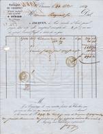 Lettre Saint Étienne 1855 Bérard Raynaud Marchand De Charbon Lyon - 1849-1876: Klassieke Periode