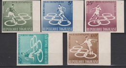 Togo 1964  N° 425-428 + PA45  JO Tokyo Olympics Games  Imperf ND MNH - Summer 1964: Tokyo