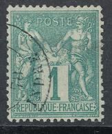 N° 61 NUANCE ET OBLITERATION. - 1876-1878 Sage (Type I)