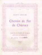 Obligation Ancienne - Chemin De Fer De Chimay - Titre De 1876 - - Chemin De Fer & Tramway