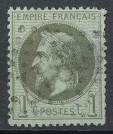 N° 25 NUANCE ET OBLITERATION. - 1863-1870 Napoléon III Lauré