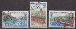 Pierre De Coubertin - DAHOMEY - Grenoble, Ville Olympique - N° 261 à 263 - 1968 - Benin – Dahomey (1960-...)