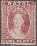 NATAL 1861 1d ROSE RED Nº 15 - South Africa (...-1961)