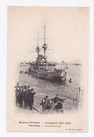 DUGUAY-TROUIN -  CAMPAGNE 1905-1906  -   GIBRALTAR - L'APPAREILLAGE - Gibraltar