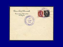 """Qualité:  – 107/8, Sur Enveloppe Spéciale, Cachet Violet  """"19/11/28 Commission Préparatoire Du Congrès De L'Upu Paris"""". - Unclassified"""