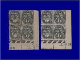 Qualité: XX – 107, 2 Blocs De 4, Cd 3/12/26 Et 4/1/32: 1c. Blanc. Cote: 145 - Unclassified