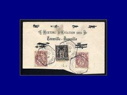 """Qualité:  – 108, Sur Enveloppe (incomplète) Illustrée, Cad Hexagonal """"Trouville Deauville Aviation 4/9/10"""". - Unclassified"""