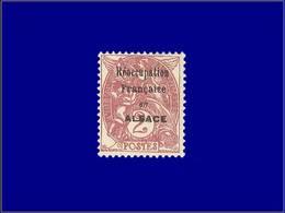 """Qualité: (X) – 108, Surcharge Noire """"Reoccupation Française En Alsace"""":2c. Blanc, (Maury 2 B). Cote: 475 - Unclassified"""