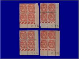 Qualité: XX – 109, 4 Blocs De 4, Cd Différents 1930/1932: 3c. Blanc. Cote: 150 - Unclassified