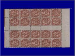 Qualité: XX – 110, Bloc De 20, Sans Millésime: 4c. Blanc. Cote: 550 - Unclassified