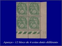 Qualité: XX – 111, Série De 12 Blocs De 4, Cd. Différents (1928/32): 5c. Blanc. Cote: +360 - Unclassified