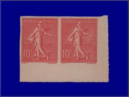 Qualité: (X) – 129, Paire Non Dentelée, Cdf: 10c. Rose. Cote: 460 - Unclassified
