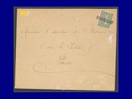 """Qualité:  – 130, Sur Enveloppe, Oblitération De Fortune, Griffe 1 Ligne """"Seboncourt"""" (1918). - Unclassified"""