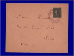 """Qualité:  – 130, Sur Enveloppe, Cachet Provisoire Violet """"Lille Reconquis"""" + Arrivée Paris 26/10/18. - Unclassified"""
