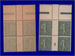 """Qualité: XX – 130, Bloc De 4, Recto-verso, Millésime """"3"""": 15c. Lignée. Cote: 225 - Unclassified"""