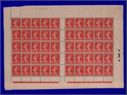 Qualité: XX – 134, Feuille De 50, Sans Millésime: 10c. Rouge Semeuse. Cote: 400 - Unclassified