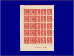 Qualité: XX – 135, Type II, Exceptionnel Panneau De 25 Non Dentelé Avec Date (G 29010 25), Trace De Millésime (semble êt - Unclassified