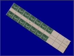 """Qualité: XX – 137, Bloc De 14 Tenant à 4 Exemplaires Blancs (bas De Feuille), Millésime """"4"""" Roulette: 5c. Semeuse Vert.  - Unclassified"""