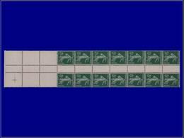 Qualité: XX – 137, Bloc De 12 De Roulette Tenant à 6 Exemplaires Blanc, Sans Millésime: 5c. Vert Semeuse. Cote: +5250 - Unclassified