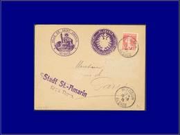 """Qualité:  – 138, Sur Enveloppe Cad. """"Moosch Alsace 10/8/15"""" + 2 Cac. De Fortune Violet """"St. Amarin"""". - Unclassified"""