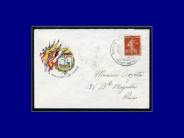 """Qualité:  – 138, Enveloppe Illustrée, Obl. De Fortune Cac. Rond """"Aigle - Marie De Soppe Le Bas"""". - Unclassified"""