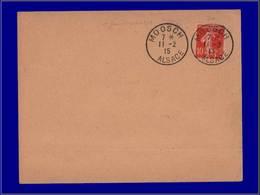 """Qualité:  – 138, Enveloppe, Cad. """"Mossch - Alsace 11/2/15"""". (1er Jour). - Unclassified"""