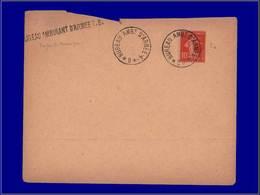 """Qualité:  – 138, Enveloppe, Cahet + Griffe Violette: """"Bureaau Amb.d'armée - 4 B"""". - Unclassified"""