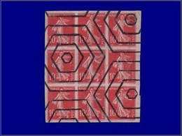 Qualité: O – 138, Bloc De 9, Non Dentelé, En Rose, Para-oblitéré Hexagones. Cote: 540 - Unclassified