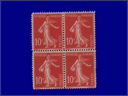 Qualité: XX – 138, Faux De Paris (1911), En Bloc De 4: 10c. Semeuse. - Unclassified