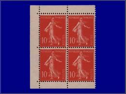 Qualité: XX – 138, Bloc De 4, Cdf De Carnet, (2 Exemplaires = X): 10c. Maigre. Cote: 150 - Unclassified