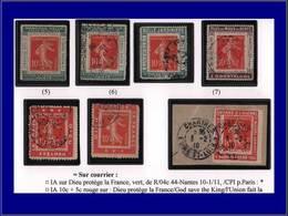 Qualité: O – 138, Collection De 7 Porte Timbres: Hella X 2, Belle Jardinière, Odontalgol, Dieu X 2,  Guerre à L'alcool. - Unclassified